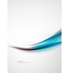 Blue glossy silk wave design template vector image
