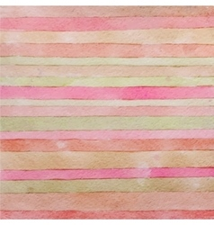 Striped hand drawn watercolor background Handmade vector image