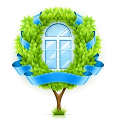 Ecological window concept vector image