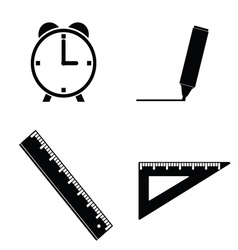 Straightedge and clock vector