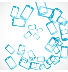 Abstract background smartphone vector