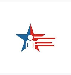 America Star people USA logo icon vector image vector image