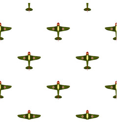 Army plane pattern flat vector