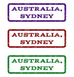 Australia sydney watermark stamp vector