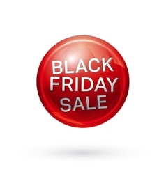 Black friday button vector