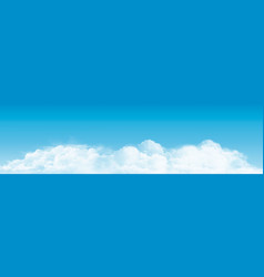 blue sky with clouds panorama background vector image