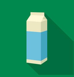 Bottle milk icon flat single bio eco organic vector