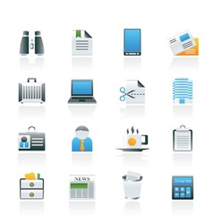 business and office elements icons vector image vector image