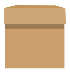 cardboard box mockup realistic style vector image vector image