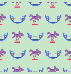children playground fun childhood seamless pattern vector image vector image