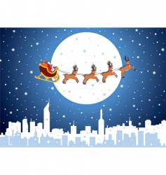 Christmas background with Santa vector image vector image