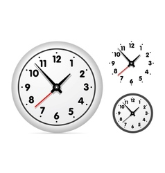 Clock on the white wall vector image