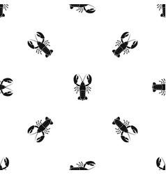 Crawfish pattern seamless black vector