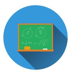 Flat design icon of classroom blackboard in ui vector