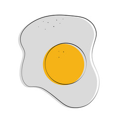 fried egg food related image vector image vector image