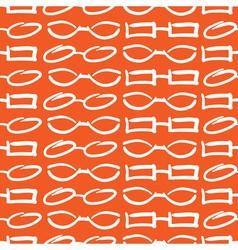 Glasses and Sunglasses Orange Seamless Pattern Ske vector image