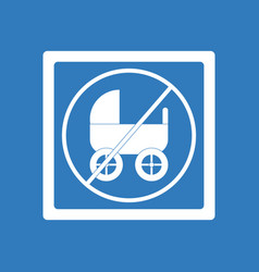 Icon on background strollers not allowed vector
