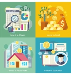 Investment in education gold property vector