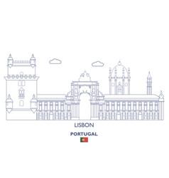 Lisbon city skyline vector