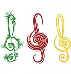 music symbols vector image vector image
