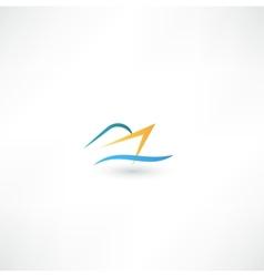 Ocean passenger liner ship vector image