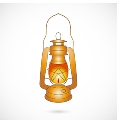 Oil lantern over white vector