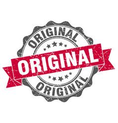 Original stamp sign seal vector