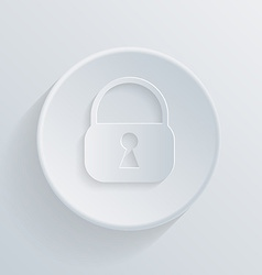 paper circle flat icon with a shadow padlock vector image