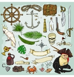 Pirates collection vector