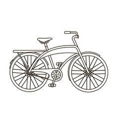 Road bike for walking with a semicircular frame vector