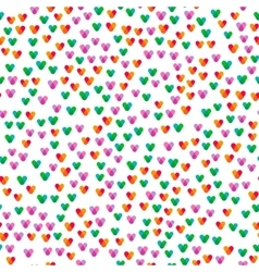 seamless pattern with small colorful hearts vector image vector image