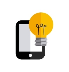 smartphone technology with business icon vector image