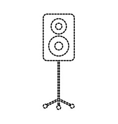 speaker in tripod music celebration party vector image