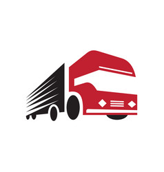 Truck logo design fast delivery vector