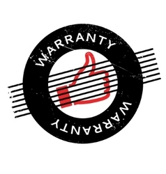 Warranty rubber stamp vector