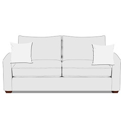 White sofa vector image vector image