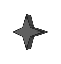 Four pointed star icon black monochrome style vector