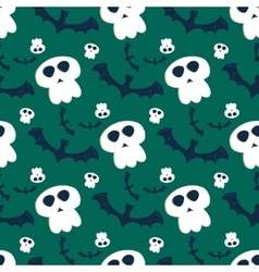 Halloween seamless pattern ghost scary vector