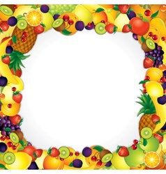 Frame from Fresh Fruits Image with Free Space vector image