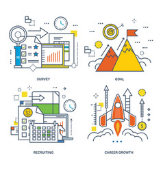 concept of survey goal recruiting career growth vector image