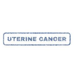 uterine cancer textile stamp vector image