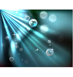 Light rays bubble background vector