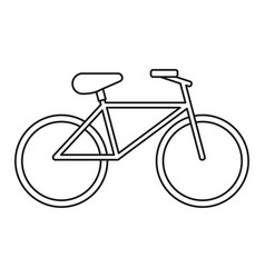 Bicycle recreation transport thin line vector