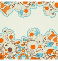 Colorful summer floral frame vector image