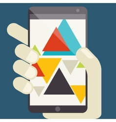 Concept for mobile apps flat design vector