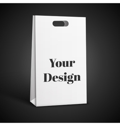 Carrier paper bag white isolated on vector