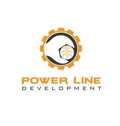 power line development vector image