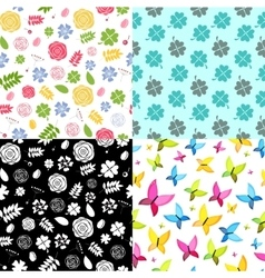 Abstract natural flower seamless pattern vector