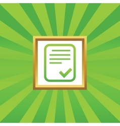 Approved document picture icon vector