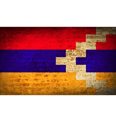 Flags karabakh republic with dirty paper texture vector